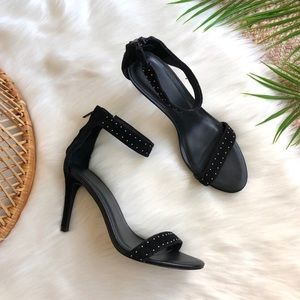 Joie Agata Black Suede Studded Heels Size 39